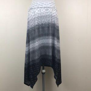 Cato Ombré Black & White Asymmetrical Hem Skirt